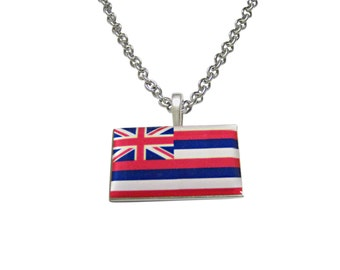 Hawaii State Flag Pendant Necklace
