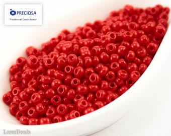 20g 7/0 Seed Beads Opaque Scarlet Red Czech Seed Bead Rocailles NR 248 Opaque seed beads Red seed beads