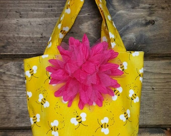 Little Girls/Toddlers Purse, Small Tote for Little Girls, Girls handbag, Ready to ship