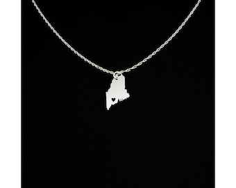 Maine Necklace - Maine Gifts - Maine Jewelry