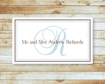 Personalized Calling Cards / Formal Gift Tags / Script Initial