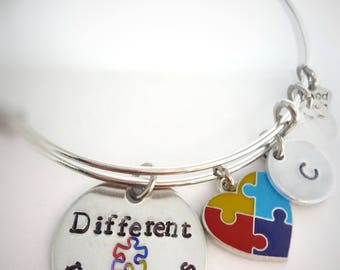 Autism Awareness Bracelet  - Different Not Less - Autism Jewelry