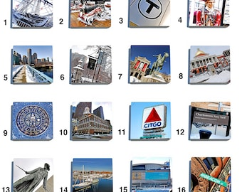 Boston Stone Drink Coaster Set in Color - Pick Any 4. Original photography.