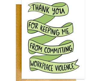 Funny Co-worker Card, Funny Card, Work Wife Card, Work BFF Card, Work Husband Card, Retirement, Love Card, Card for Boss, Co-worker Gift