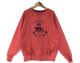 RARE!! Soft Pink Tommy Hilfiger Sweatshirt / Tommy jeans spellout  Sweatshirt / Hypebeast Fashion Style