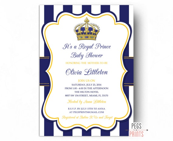 Royal prince baby shower invitations little prince baby like this item filmwisefo Gallery