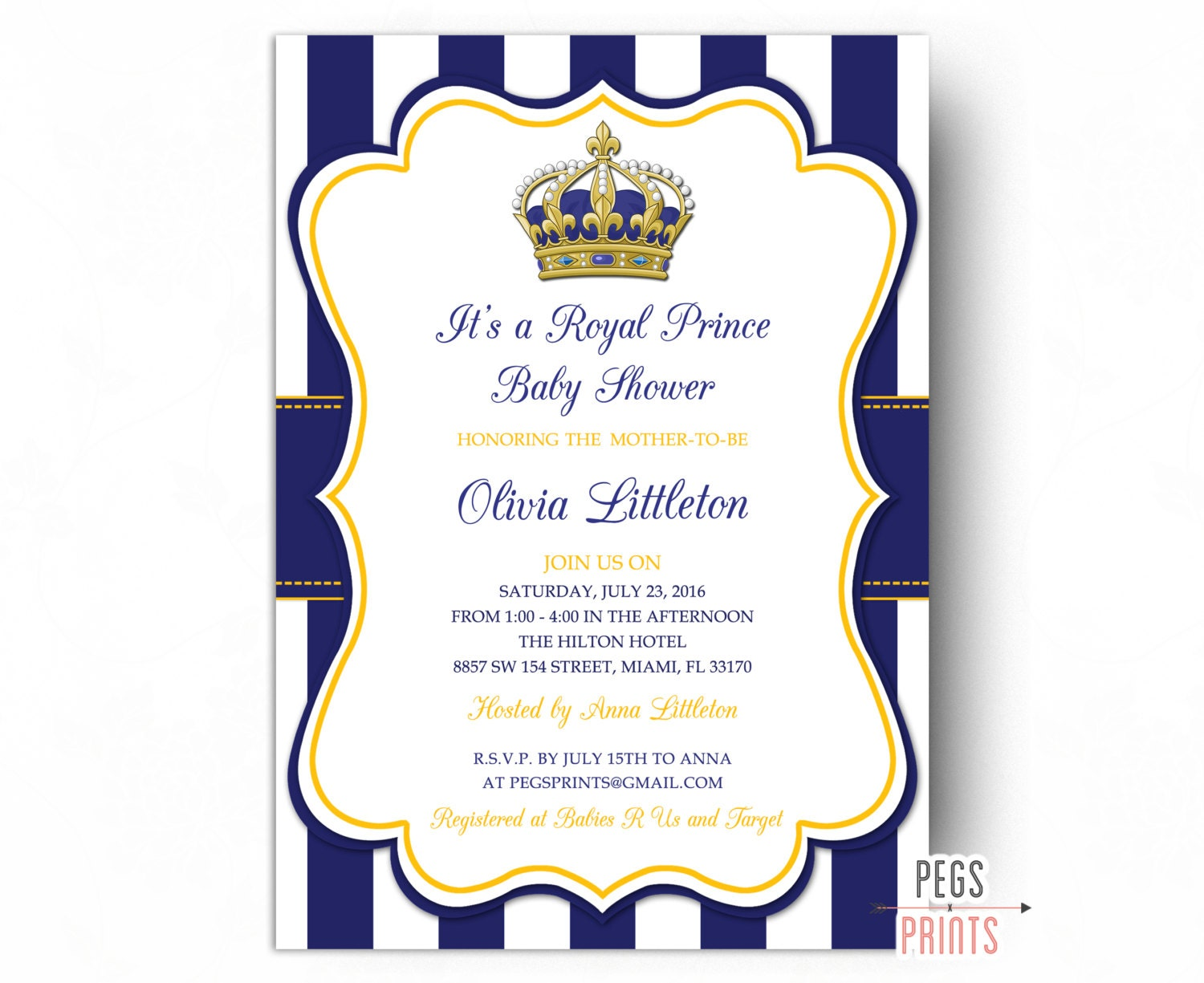 Royal Prince Baby Shower Invitations Little Prince Baby