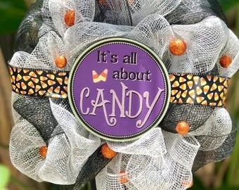 Halloween Candy MINI Wreath