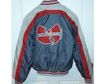 WU WEAR jacket, vintage 90s hip hop windbreaker, Wu-Wear hip-hop, official authentic sewn Wu Tang Clan jersey merchandise 1990s size S Small