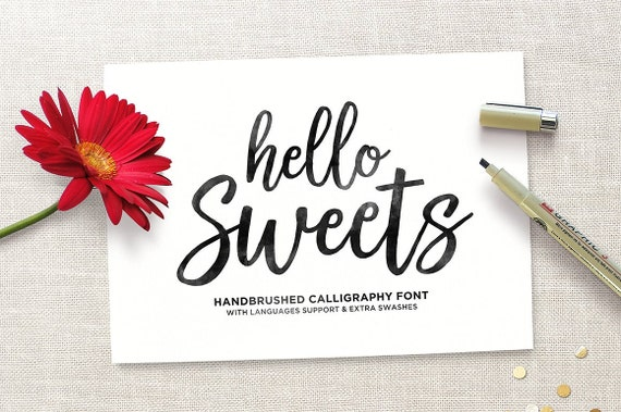 Hello all introducing lettuce is modern calligraphy this font
