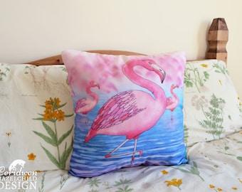 Flamingo Cushion Cover, Throw Cushion, Pillow, Decorative CushionCushion Cover, Throw Cushion, Pillow, Decorative Cushion, Flamingo Gift