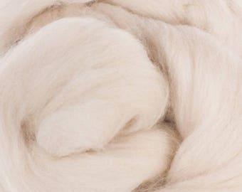 Superfine Merino Wool Top - 19 micron - Sand - 4 ounces