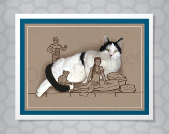 Max the Cat Star Wars Jabba the Hutt All Occasion Funny Illustrated Card