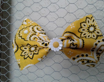 Bandana fabric bow