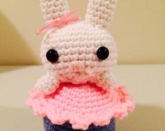 Yummy Crocheted Cupcake Bunny