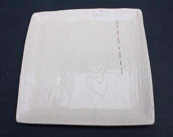 Wood Grain Platter