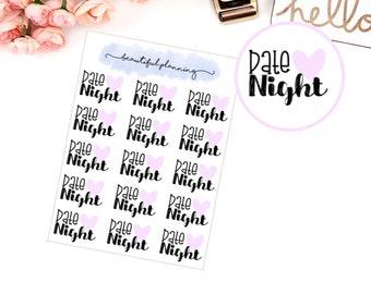 Date Night Planner Stickers  for use in ERIN CONDREN LIFEPLANNER ™, Happy Planner, Tn, Midori,