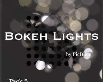 Bokeh Lights Overlays - Pack 5 (5 Overlays) - Instand Download