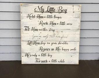 HOLD HIM a Little Longer Sign, Nursery Decor, Nursery Room Decor, Little Boy, Baby Shower Gift, Nursery Wall Art, Baby Room Decor, Baby boy