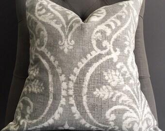 Pillow Cover, Grey Ikat Pillow Cover, ELSA