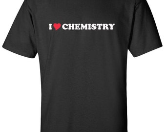 I Love Chemistry Heart  Men Women T-Shirt