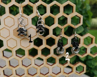 Small chainmail earrings