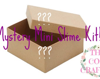 Mystery Mini Slime Kit! x3 2oz slimes! One 8oz slime and extras! Perfect for you! Clicky, Squishy, Stretchy!