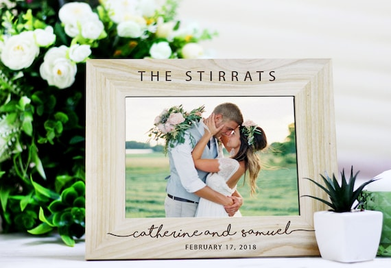 Rustic Wedding Photo Frame Wedding gift for Couples