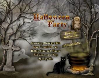 Halloween Invitations, Halloween Party Invitation