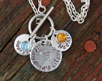 Personalized Grandma Necklace, Christmas Gift, Necklace for Grandma, Mother's Day Gift for Mom, Gift for Mom, Gift for Grandma, Easy Clasp