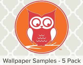 Wallpaper, Peel and Stick Wallpaper, Repositionable Wallpaper Samples (5 Pack) 1000