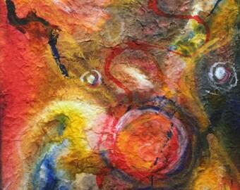 Seed - Original Acrylic Ink Painting