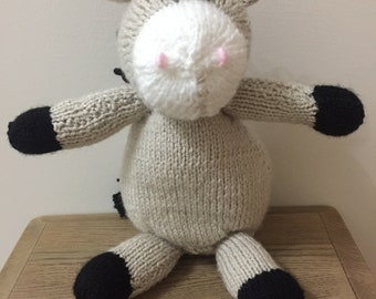 Handmade knitted donkey