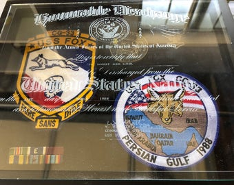 Custom Laser engraved discharge certificate