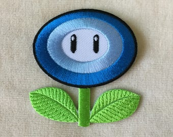 Ice Fire Flower Super Mario Iron On Patch