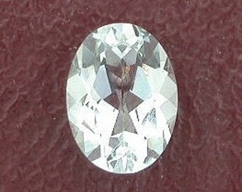 8x6 oval light blue aquamarine gem stone gemstone es1848