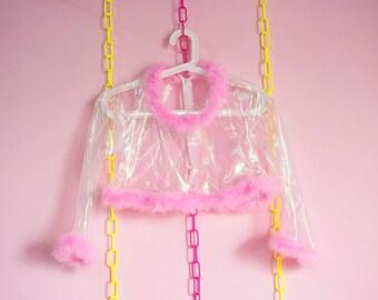 Mscheap pink fury fairy pastel yarn top