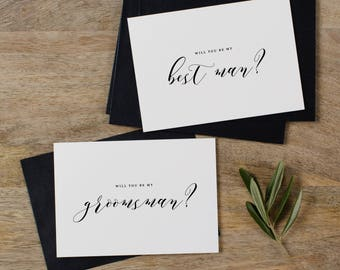 4 x Will You Be My Best Man, Will You be My Best Man, Groomsman Card, Wedding Party, Will You Be My Cards, Usher Card, K10