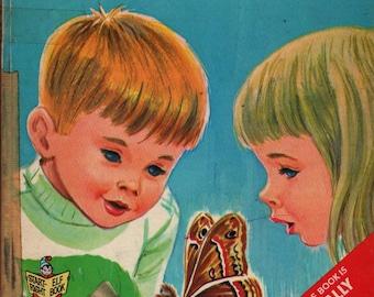 A Moth is Born a Start-Right Elf Book + Herbert B. Walker + Dottig + 1967 + Vintage Kids Book
