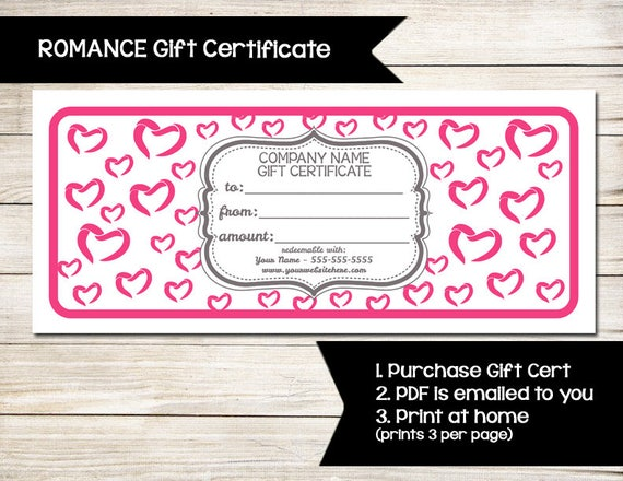 PURE ROMANCE Gift Certificate Coupon Discount Card - Pure romance gift certificate template