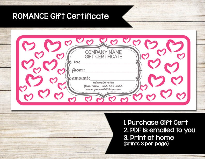 PURE ROMANCE Gift Certificate Coupon Discount Card