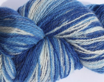 KAUNI Estonian Artistic Yarn Blue 8/2, skein 218 g. Gradient Wool