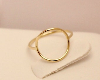 14k rose gold circle ring, 14k pink gold circle ring, 14k yellow gold circle ring, 14k circle ring, 14k gold circle ring, 14k thumb ring