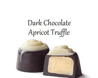 Truffles, Dark Chocolate Apricot Truffle, Chocolate Truffles