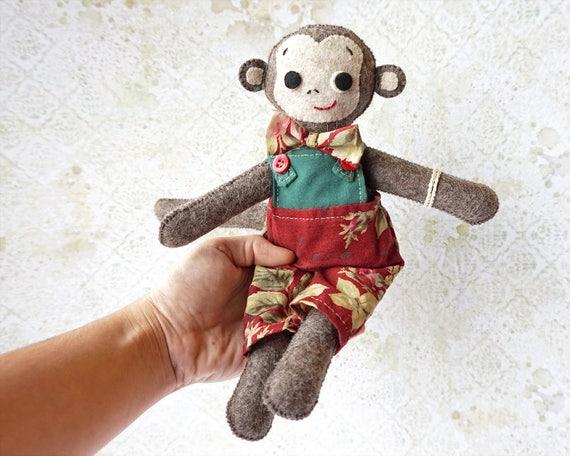 Plush Monkey Toy | Personalized Gift | Monkey Plush | Animal Toy | Handmade Monkey Toy | Monkey toy for Kids | Monkey Plushie | Monkey Toy