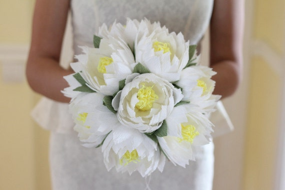 Wedding flower lotus bouquet water lily white lotus rustic wedding flower lotus bouquet water lily white lotus rustic flowers wedding bouquet paper flower decor bridal lotus paper flowers lotus decor mightylinksfo Image collections