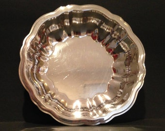 Vintage Bonbon Dish, Silver-plate, Oneida - Modern Baroque