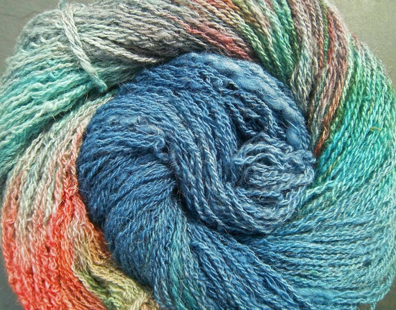 Hand Dyed Yarn 4ply Fingering North Ron. Elvincrafts Woaded Woman Warrior