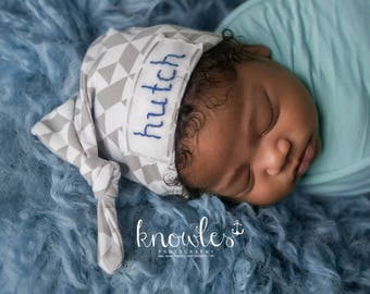 name hats for newborns, baby name hat, baby boy coming home outfit, baby knot name hat, newborn baby hat,boy hospital outfit,baby hat
