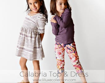 Calabria knit top and dress easy, quick, and modern sewing pattern